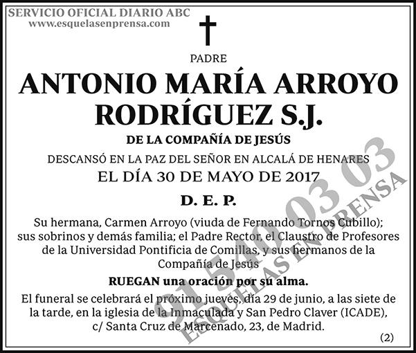 Antonio María Arroyo Rodríguez S.J.